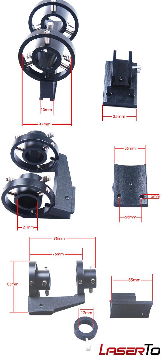 soporte para láser astronomía